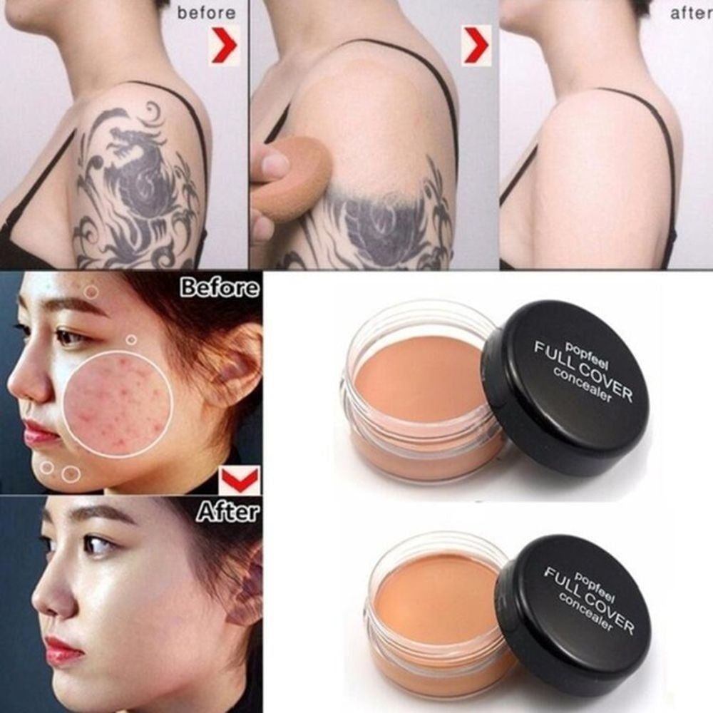 New Fashion  Natural Professional Make Up Contouring Cream Full Cover Wrinkle Face Concealer Primer Foundation Cream Cosmetic Base