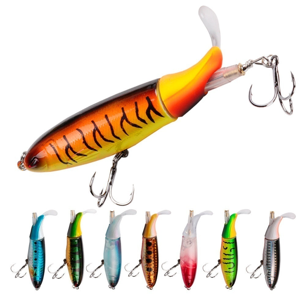 1PCS Fishing Lure 10cm 13.5g Artificial Bait Hard  Soft Rotating Tail Fishing Tackle Geer
