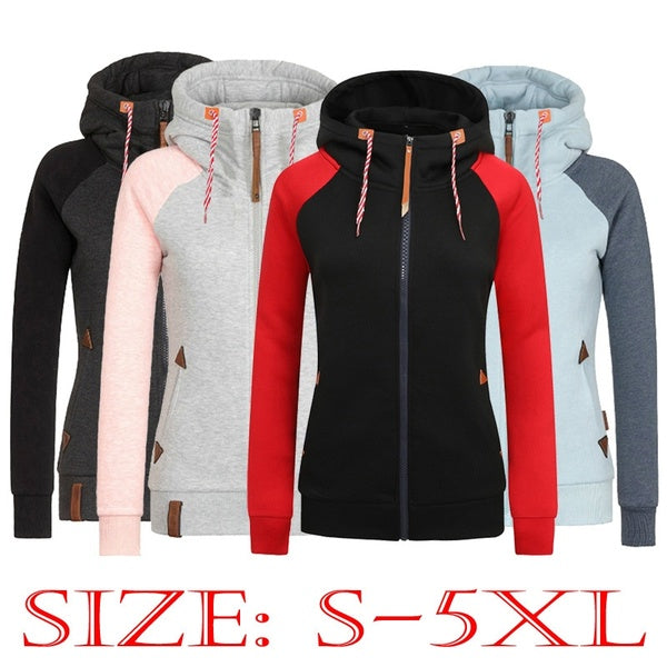 2019 Winter Women's Casual Printed Long Sleeve Hooded Pullover Hoody Sweatshirts With Pocket Moleton Feminino