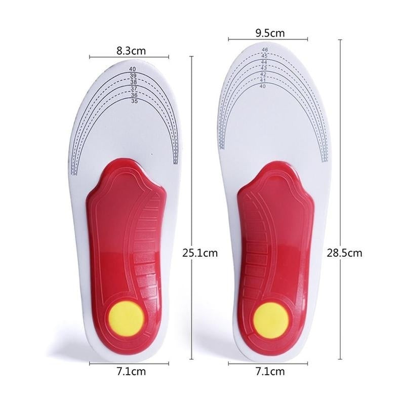 1pair Orthotic Insoles for plantar fasciitis Flat Feet arch Support Shoe Inserts