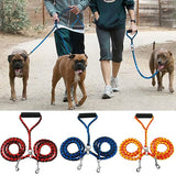 Double 2 Dogs Outdoor Coupler Dual Walking Pet Supplies Dog Leash Leads Dog Traction Rope