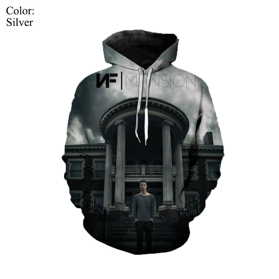 2019 New Hot Sale Singer NF 3D Print Hoodies Men/women's Long-sleeved Sweatshirts Autumn and Winter Warm Streetwear Popular Youth Hip Hop Tops