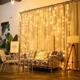 3x3/3x2/3x1m LED Icicle Fairy String Lights Christmas Led Wedding Party Fairy Lights Garland for Outdoor Curtain Home Decor