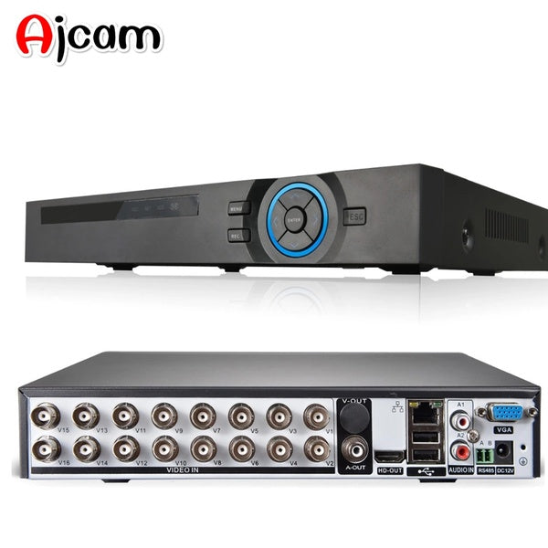 AJCAM 16ch AHD 1080P HDMI DVR 16CH 6 in 1 AHD CVI TVI NVR DVR for IP Camera onvif P2P  CCTV DVR video surveillance system