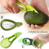 3 In 1 Avocado Slicer Shea Corer Butter Fruit Peeler Cutter Pulp Separator Knife