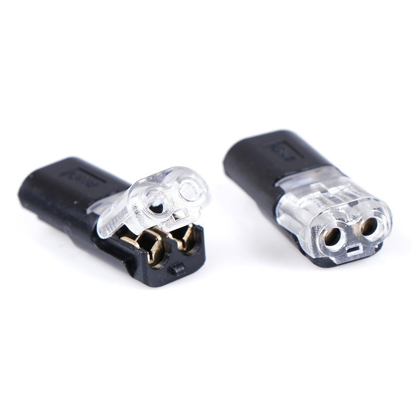 Pluggable Spring Scotch Lock Wire Connector for 22-20AWG Wire with No Welding 2pin  No Screws Quick Splice Connector Cable Crimp Terminal Blocks