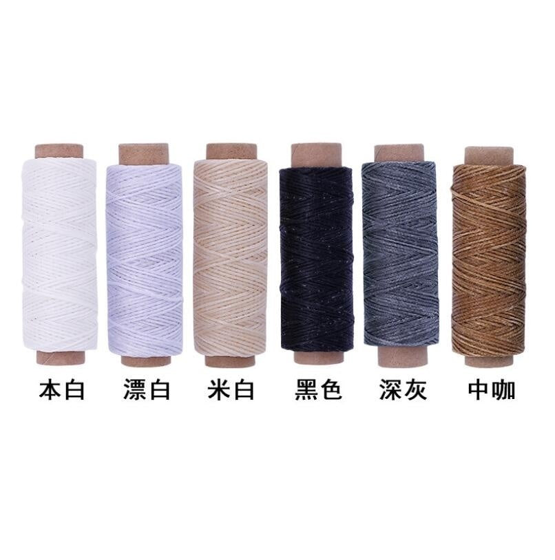 40PCS/Lot Flat 12M Waxed Wax Thread Cord Sewing Craft Tool Hand Stitching  DIY Leather Drafts