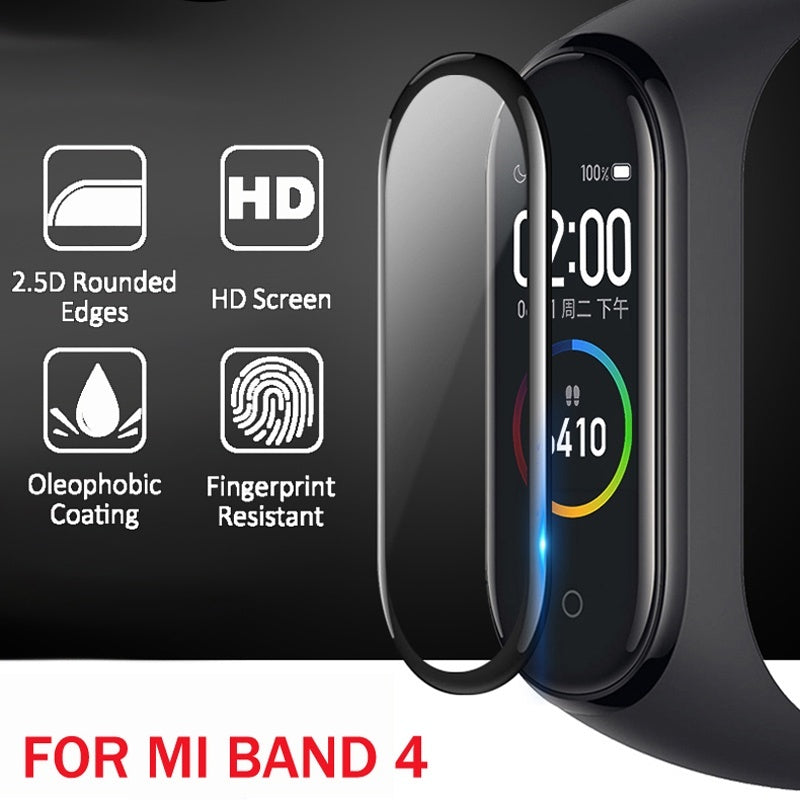 3D Screen Protector for Xiaomi Mi Band 4 Film Strap Mi Band4 Smart Watch Miband 4 Full Soft Protective Glass Xiomi Miband4 Film