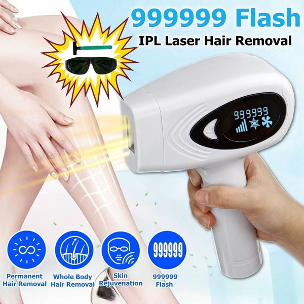 36W IPL Laser Epilator Permanent Painless Legs Hair Removal Skin Rejuvention Machine  7c  large irradiate area with Glasses and Razor