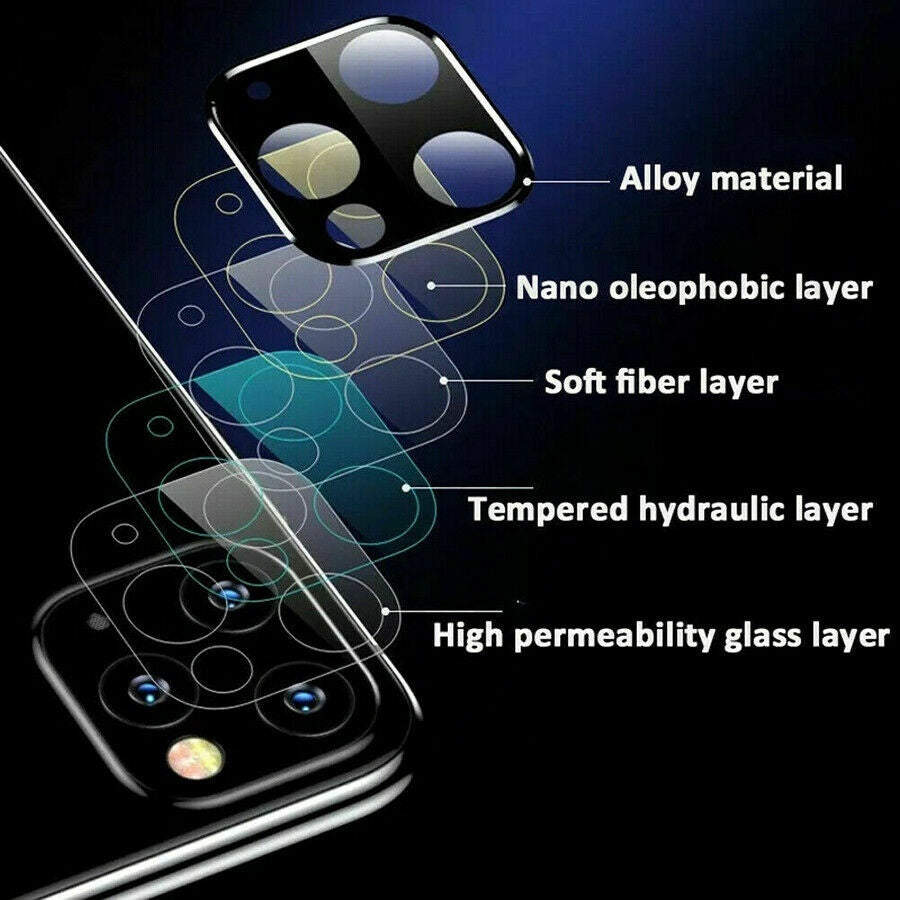9H Camera Lens Protection Tempered Glass for Iphone 11 Pro Max Xs Xr X 3D Full Cover Protector Flims