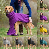 Winter Dog Vest Solid Color Keep Warm Puppy Pet Coat Hoodies Jacket Soft Fleece Dog Clothes for Small Medium Large Dogs XS~5XL