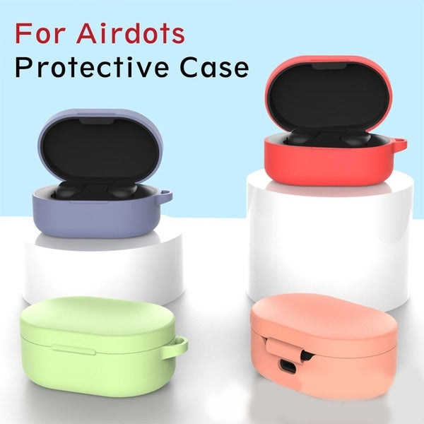Wireless TPU Shockproof Anti Lost Bluetooth Box with Hook Earphone Cover Headset Protective Silicone Case for Xiaomi Air Dots