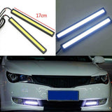 6pcs Waterproof 12V DRL COB Light Bar Strip White For Caravan Boat Car Truck