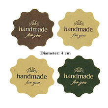 Load image into Gallery viewer, 120PCS 'Handmade for You' Flower Design Kraft Paper Seal Sticker/Christmas DIY Note Gift Labels Retail