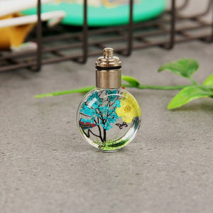 Luminous Handmade Plant Gifts Butterfly Jewelry Glass Ball Pendant Necklace Fashion Accessories