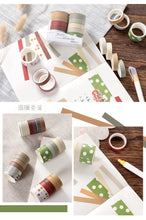 Load image into Gallery viewer, 10 Roll Sweet Color and Paper Washi Tape Set Diy Hand Account Part Secant Decorative Sticker Diary Note