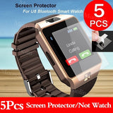 5PCS HD Clear LCD Screen Protector Protective Film For U8 Bluetooth Smart Watch