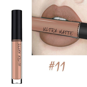New Red Sexy 12 Colors Long Lasting Waterproof Matte Nude Velvet Lipgloss Liquid Lipstick Gift
