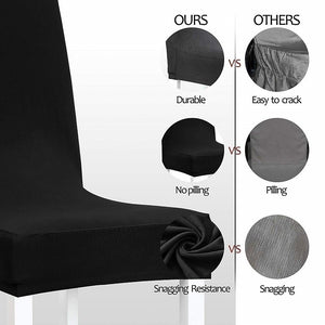 4/6/8/10Pcs Super Fit Stretch Jacquard Removable Washable Short Dining Chair Covers Seat Slipcover for Hotel Dining Room Wedding Party