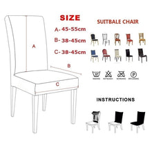 Load image into Gallery viewer, 4/6/8/10Pcs Super Fit Stretch Jacquard Removable Washable Short Dining Chair Covers Seat Slipcover for Hotel Dining Room Wedding Party
