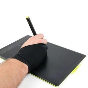 2pcs Professional Artist Drawing Two Finger Anti-fouling Glove for Graphic Tablet Light Pad