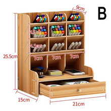 Load image into Gallery viewer, Office Desk Organizer Desktop Pen Pencil Holder Container Storage Box Portable with Drawer