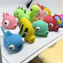 Load image into Gallery viewer, 1 Pcs New Style Animal Cable Protector Cartoons Fish Dragon Doll Animal Bites Protector for Phone