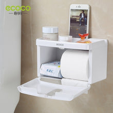 Load image into Gallery viewer, NEW Wall-mounted Press-open Waterproof Double-deck Paper Towel Boxes Rolled Paper Towel Boxes Toilet Belts Drawers Shelves