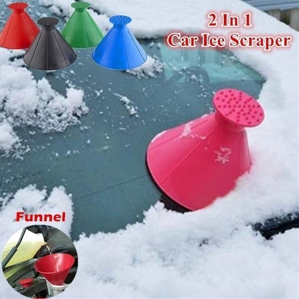 4 Colors  Windshield Scrape A Round Snow Shovel Tool Plastic Ice Scraper