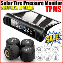 Load image into Gallery viewer, 2020 New Upgrade Solar TPMS Tire Pressure Monitoring System Wireless TPMS with LCD Color Display/4 External Sensors