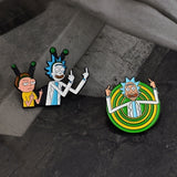 Cartoon Icons Style Enamel Pin Badge Rick and Morty Classic Buttons Brooch Anime Lovers Shirt Denim Jacket Lapel Pins