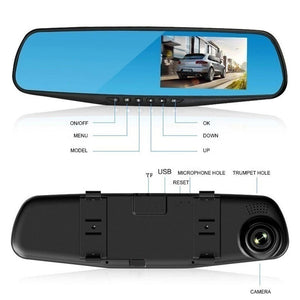 2019 New 1080P Full HD 2.8/3.5/4.3 Inch IPS  Rear View Mirror Camera Dual Lens Touch Screen Car Dvr with WDR/G-sensor/parking Monitoring/super Night Vision