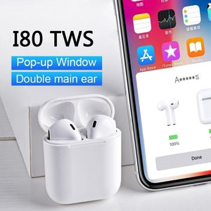 New Wireless Bluetooth Earphone Earbuds for Apple AirPods Original In-ear Earphone Deeper Bass with Touch Function for IOS Android Smartphones