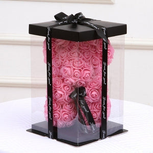 Empty Gift Box for Artificial Teddy Bear Rose Flower Gifts Box