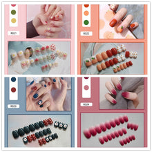 Load image into Gallery viewer, Fashion Fake Nails Finished Nail Patch Fake Nails Wearable Nails Stickers Waterproof 24 Pieces Boxed 021-040