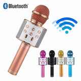 Handheld Wireless Bluetooth Microphone KTV Karaoke Microphone with Speaker for IOS Android Phone Computer
