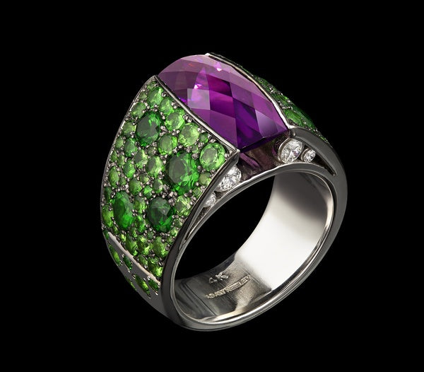 Retro Style Women's 925 Sterling Silver Amethyst & Emerald Ring Anniversary Gift Engagement Bridal Wedding Rings Jewelry Size 5-11