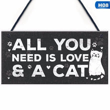 Load image into Gallery viewer, 1Pcs Wooden Hanging Pendant Tags Cute Cat Pets Carved Door Tag Friendship Sign Cat Lovers