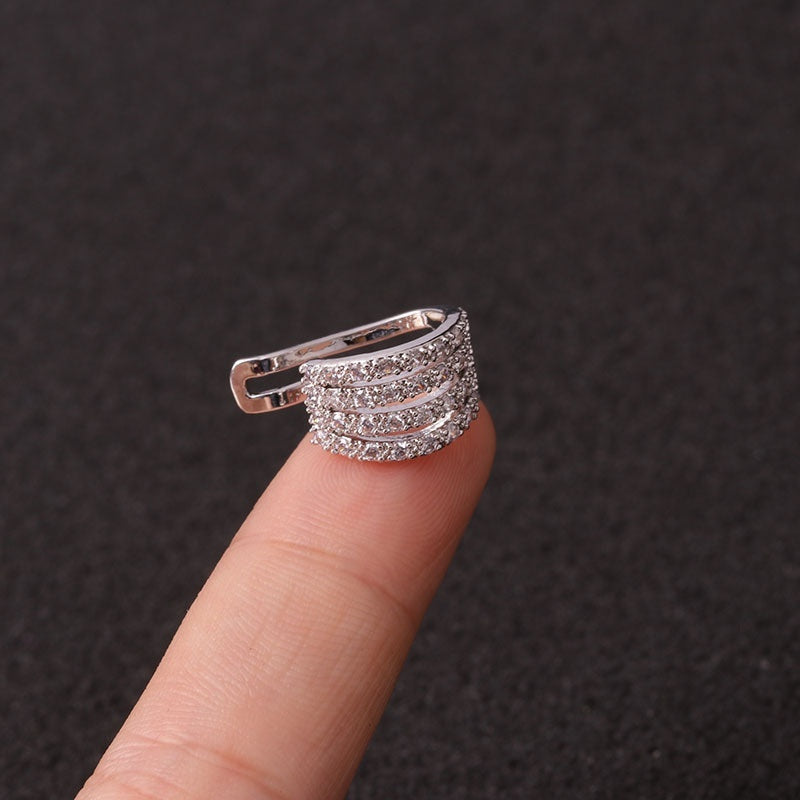 1PC Sexy Women Girl Earring Cuffs Wraps Clip Helix Cartilage Jewelry Pretty Ear Hoop Non-Piercing