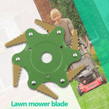 2020 New Double-Sided 6-Tooth Mower Blade Trimmer Metal Blade Trimmer Head 56mm Garden Mower Head For Lawn Mower Boat