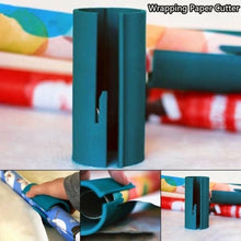 Load image into Gallery viewer, 1PC/2PCS Sliding Wrapping Paper Cutter Christmas Gift Wrapping Paper Roll Cutter Tool Cuts the Prefect Line Every Single Time