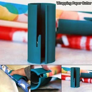 1PC/2PCS Sliding Wrapping Paper Cutter Christmas Gift Wrapping Paper Roll Cutter Tool Cuts the Prefect Line Every Single Time