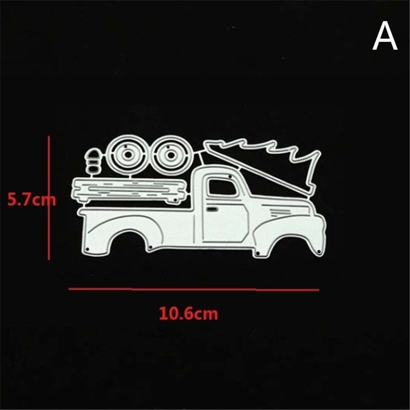 Steel Cutting Dies Christmas Car Stencils New 2019 for Diy Scrapbooking Album Embossing Paper Card Crafts Template