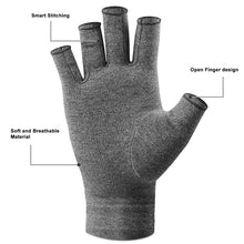 Load image into Gallery viewer, 1 Pair Compression Arthritis Gloves Rehabilitation Training Glove Health Care Therapy Wristband Pain Relief Half Finger Gloves