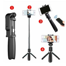Load image into Gallery viewer, 3-in-1 Bluetooth remote control Selfie Stick Extendable Tripod Selfie Stick Mini travel selfie