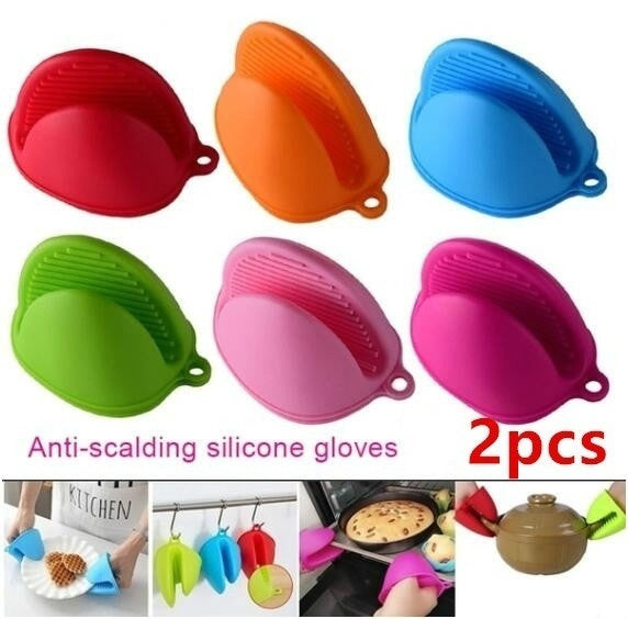 2pcsSilicone anti-scalding gloves dish holder kitchendish bowl baking oven