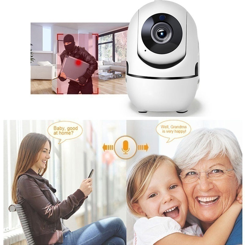 Newest Intelligent Tracking Home Security Camera 720P/1080P HD Wifi PTZ Camera IR Night Vision Camcorder With TF Card Record Two Way Audio Home Security