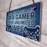 Gamer Gaming Bedroom Gifts Funny Novelty Christmas Birthday New Year Gift for Son Brother Boyfriend