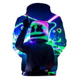 2020 New Spring Children's Wear Hoodie DJ Marshmello Mask Music Boys Long Sleeve Hoodie Boys and Girls Coats Tops Kids 3D Printed Pullovers Sweatshirts