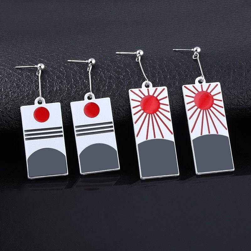 Animation Merchandise Kimetsu Yaiba Acrylic Earrings Earrings Tanjiro Kamado Jewelry & Earrings